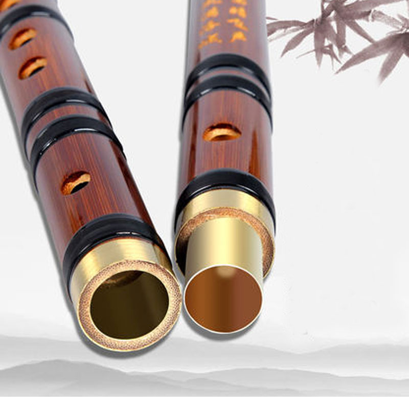 Flauta profesional de bambú para niños, flauta transversal para principiantes adultos, instrumentos musicales, flauta dizi de madera