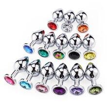 Fiche anale en métal, intime, bijoux en cristal, toucher lisse, sans vibrateur, dilatateur Anal de perles, jouets pour hommes et femmes godemichet Anal