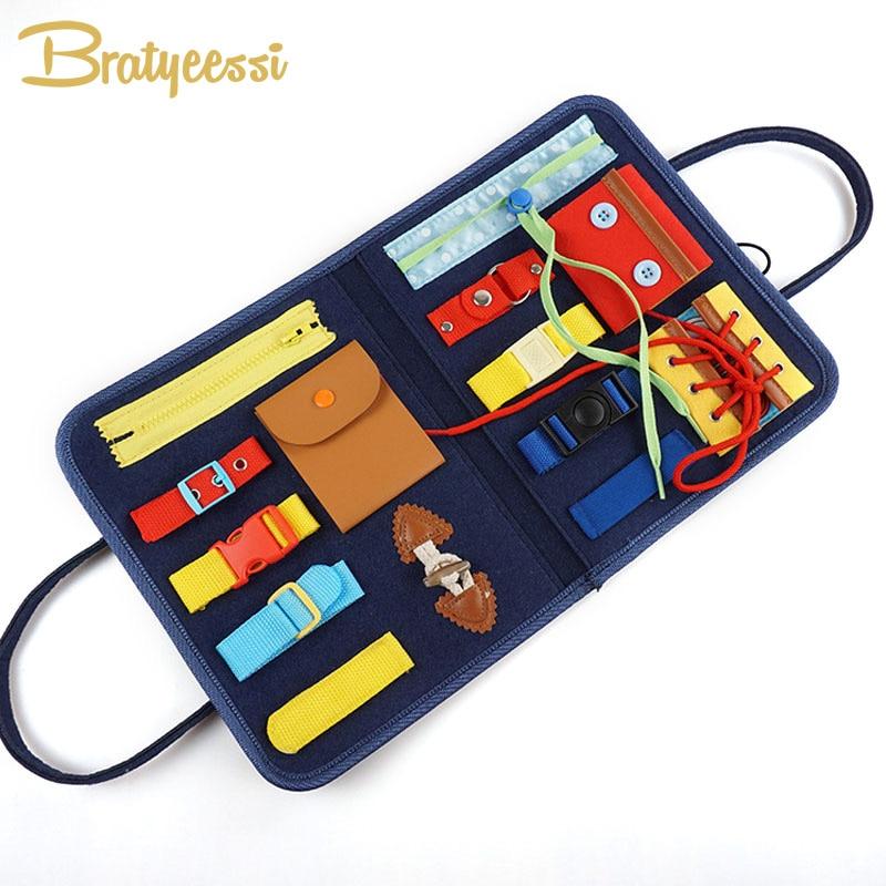 Montessori Toys Early Educational Fine Motor Training Self-care Ability Children Game Preschool Kids Toy for Girls Boys
