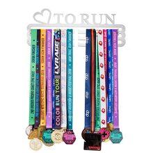 Stainless Steel Medals Hanger Holder LOVE TO RUN 36+ medal Sport Marathon Running decoration medal Display rack Triple Bar