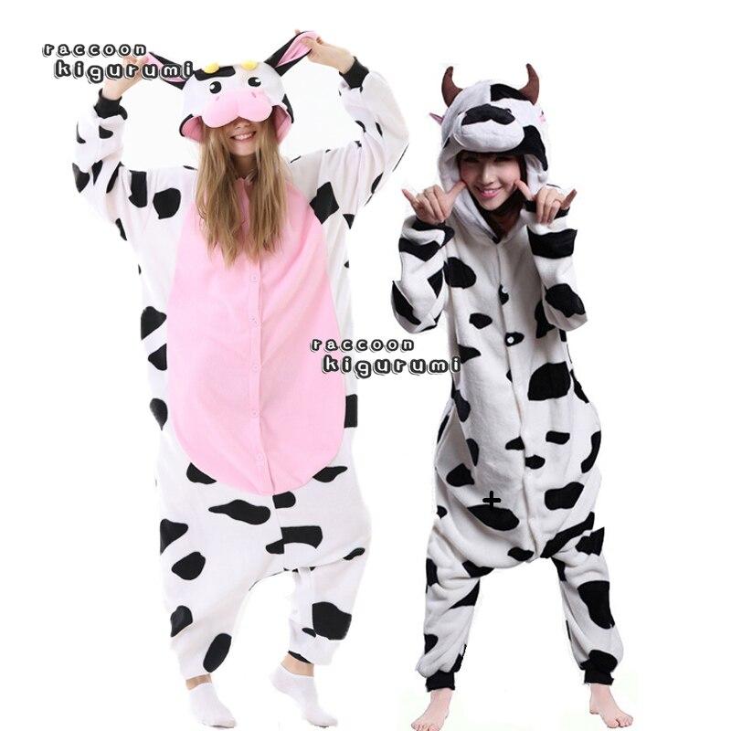 Adult Unisex Cow Pajamas Anime Halloween Cosplay Costume Party Jumpsuit Men And Women Raccoon kiguru