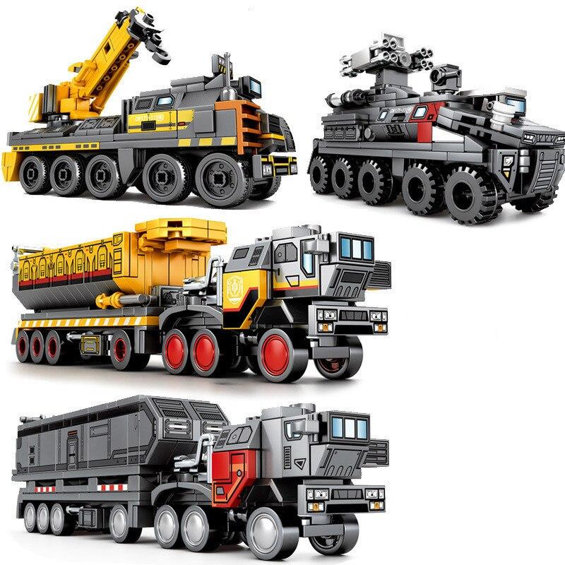 CargoTruck, camión de transporte de tierra de técnica, Bloques de construcción de ciudad, superrescate, juguetes de bloques Playmobil para niños