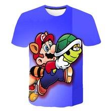 2020 Cool Cartoon Super Mario Sonic 3D Design T-shirt Kids Summer T Shirt Youth Boys Girl Tshirt Casual Top Tee Clothing