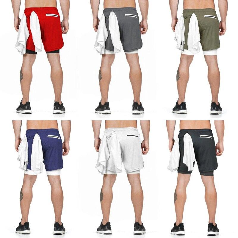 Vip enlace-pantalones cortos deportivos 2 en 1 para hombre párr correr Fitness...