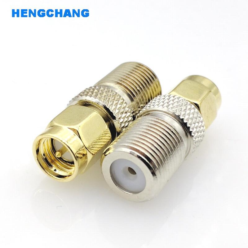 F Type Female Jack to SMA Male Plug Straight RF Coax Adapter F connector to sma Convertor 1pcs