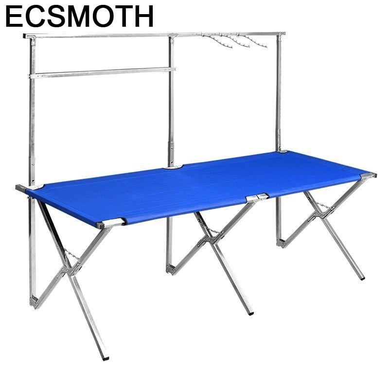 Campismo-Mesa Plegable para Patio, muebles De exterior, Mesa De acampada