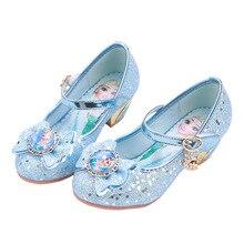 2020 children Elsa shoes Girls shoes Cartoon sofia Elsa Anna Kids Sneakers Snow Queen Shoes For Girls Sandals Flat Casual Shoes