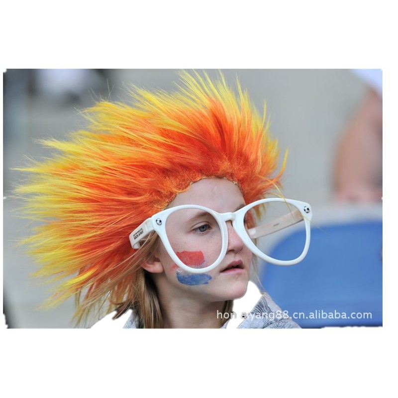 Halloween Hedgehog Round Straight Hair Wig Colourful Funny Cosplay Dance Party Hairpiece Clown Headdress For Children Adult
