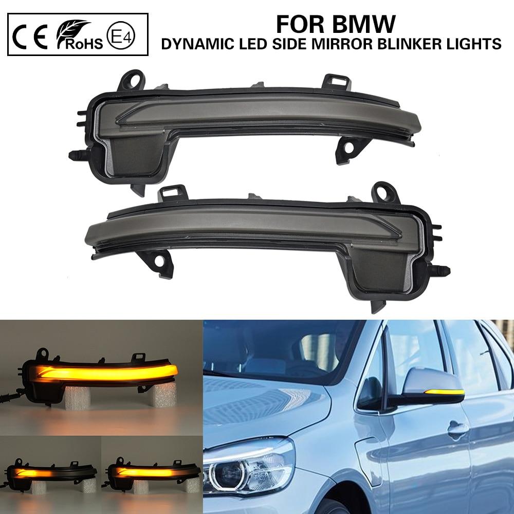2X Dynamic LED side mirror blinker light Turn Signal Lamp For BMW 2 Series F45 F46 X1 F48