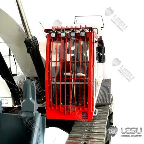 LESU Metal Protective Fences of Cabin for 1/14 RC Carter 374 Excavator Model TH16934-SMT2 enlarge