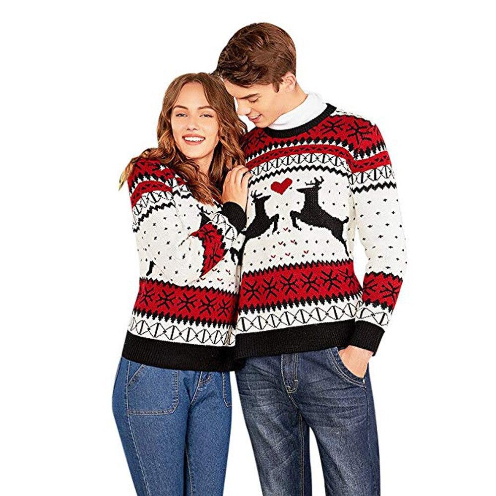Jersey de invierno para parejas, jersey de 2018, jersey para parejas de dos personas, jersey para parejas, Jersey atractivo de novedad para Navidad