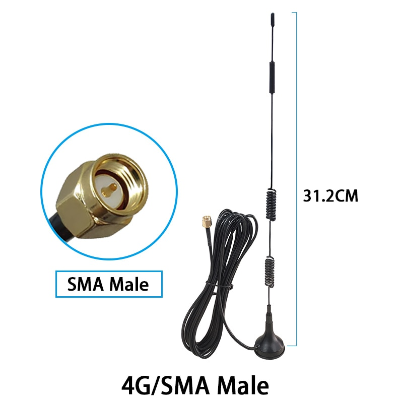 Eoth 20pcs 4G WiFi Antenne Booster  SMA Connection 15dBi 1880-2635MHz high-gain signal 4GHz Cellular modem WiFi Booster  Antenne