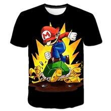 Dessin animé Super Mario Bros avec Luigi enfants T-shirt drôle bébé garçons T-shirt enfant filles hauts T-shirt vêtements décontractés cadeaux danniversaire