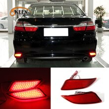 2PCS Red For Toyota Camry 2015 2016 LED Rear Bumper Reflector Tail Brake Fog Parking Warning Lamp Running Turn Signal Light