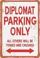 12 x 16 metal sign diplomat parking only vintage look