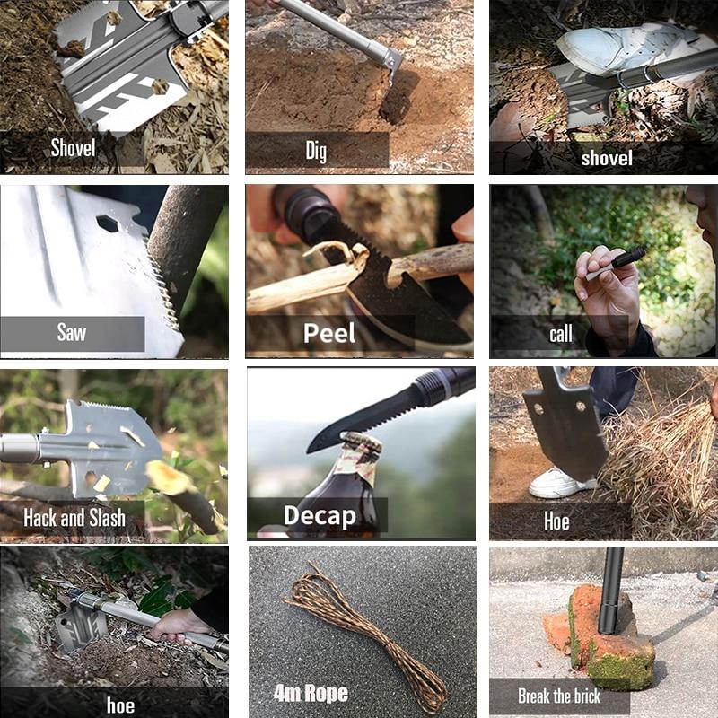 Daugiafunkcis kempingo kastuvas titano išlikimo sulankstomas - Sodo įrankiai - Nuotrauka 4