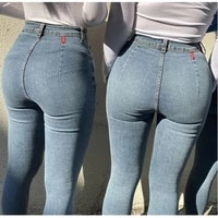fashion ladies jeans sexy high waist sports stretch tights sports all match narrow leg pants fitness running sports suit women