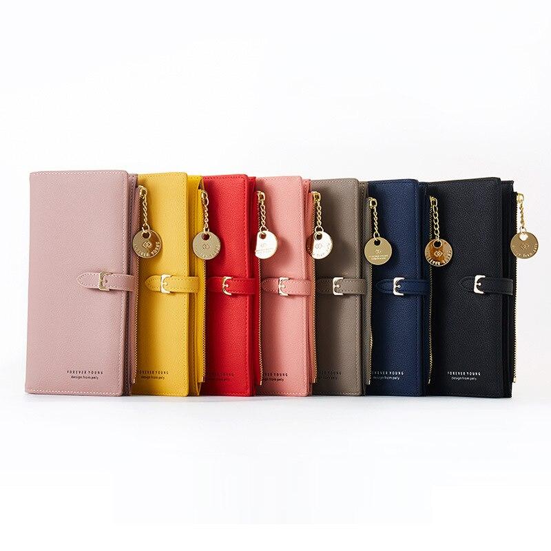 Купить с кэшбэком YIZHONG Fashion Women Wallets and Purses Wristband Long Female Wallet Clutch Zipper Phone Pocket Card Holder Ladies Carteras