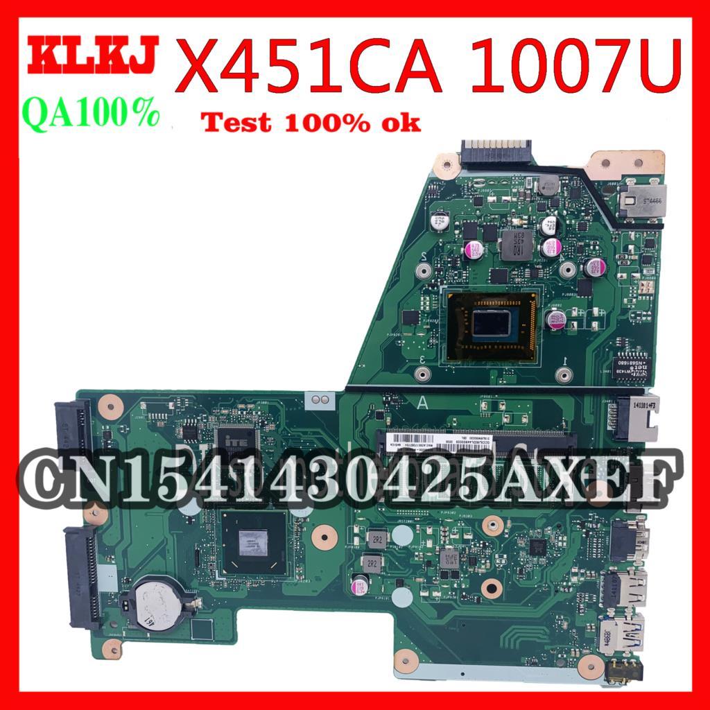 لوحة أم KLKJ X451CA للكمبيوتر المحمول ASUS X451CA اللوحة الرئيسية X451CA REV2.2/2.1 1007u اختبار العمل 100%