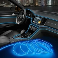 9 8ft auto car interior atmosphere wire strip light led decor lamp accessories front rear left right