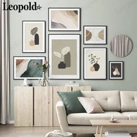 abstract modern color plant canvas poster simple marble style painting wall art nordic living room home decoration