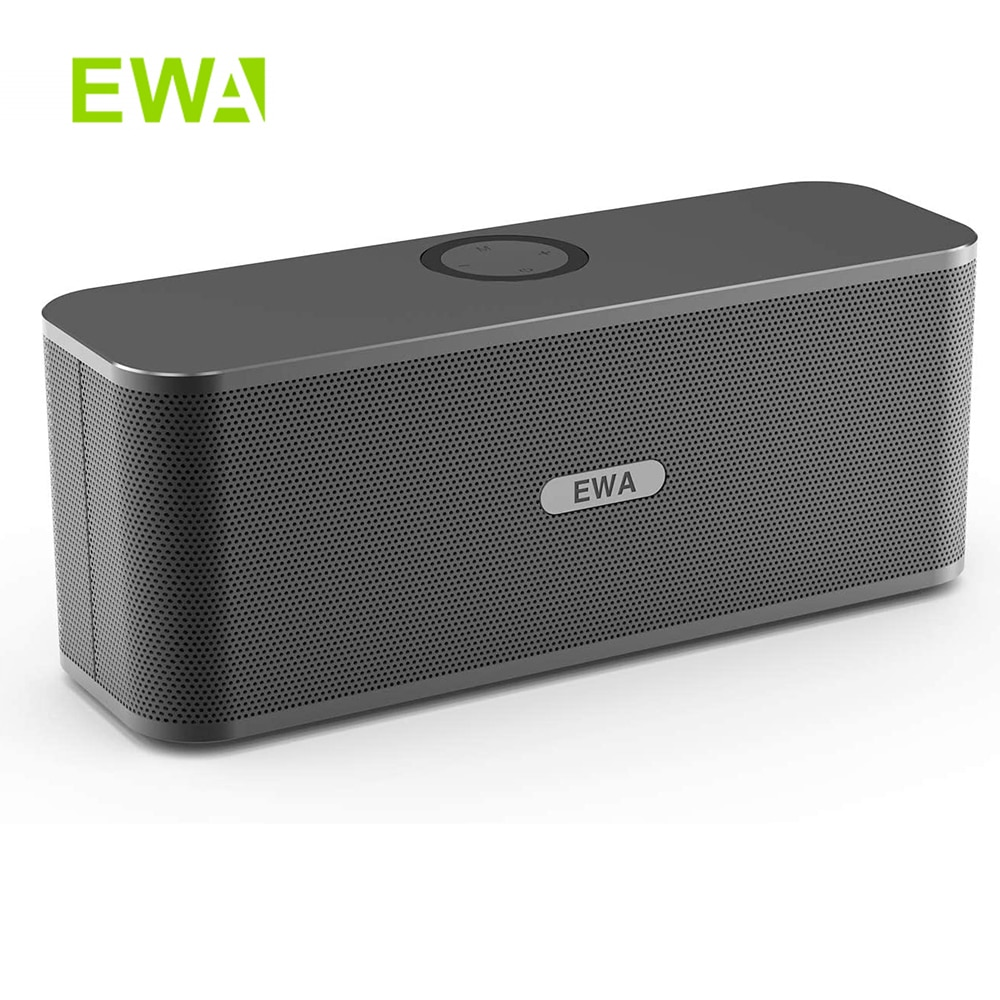 EWA W300 مكبرات صوت بخاصية البلوتوث 2*6 واط السائقين صوت ستيريو بصوت عال 4000mAh بطارية مكبر صوت لاسلكي قابل للحمل لحفلات السفر في الهواء الطلق