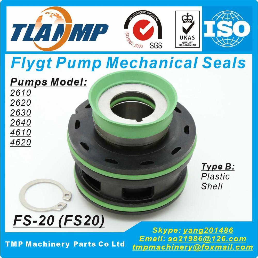 FS-20 , FS20, 20mm welle größe ersetzen von ITT Flygt plug-in Mechanische Dichtungen für Xylem Flygt 2610,2620,2630,2640,4610,4620 Pumpen