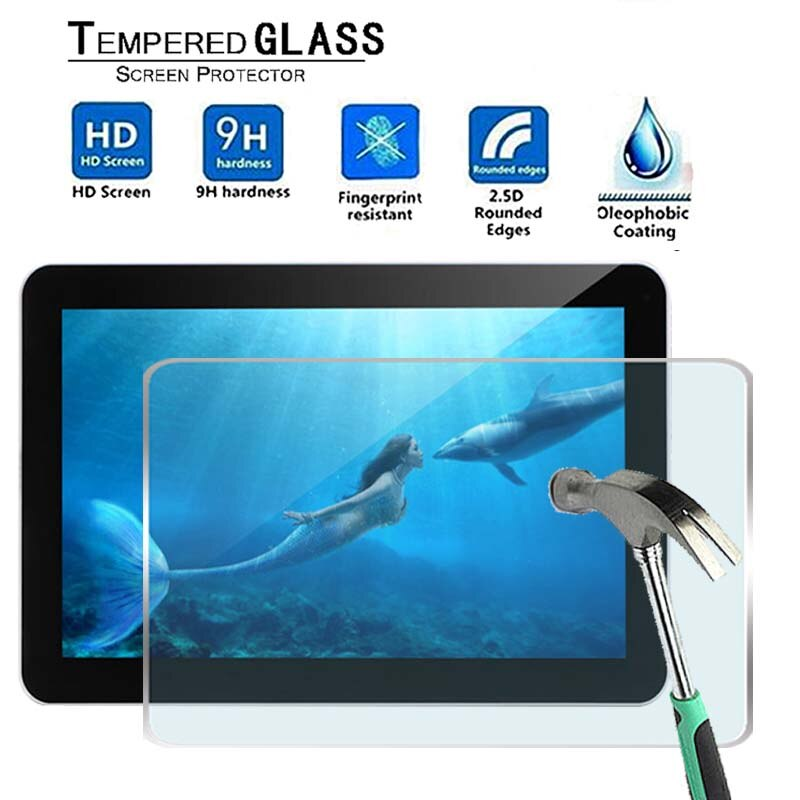 For iRULU eXpro X1Plus 10.1 -Premium Tablet 9H Tempered Glass Screen Protector Film Protector Guard Cover