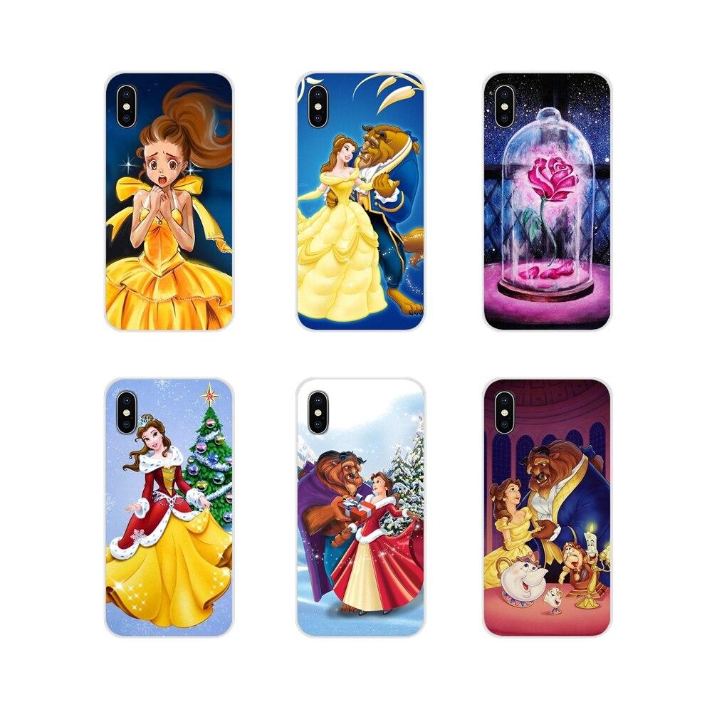 TPU Case Covers For LG G3 G4 Mini G5 G6 G7 Q6 Q7 Q8 Q9 V10 V20 V30 X Power 2 3 K10 K4 K8 2017 Beauty and the Beast Belle Cartoon