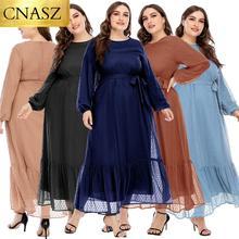 2020 neue Muslimische Islamische Mode Damen Spitze Kleid Nahen Osten Dubai Elegante Hohe Qualität Kleidung Arabischen Marokkanischen Frauen Kleid