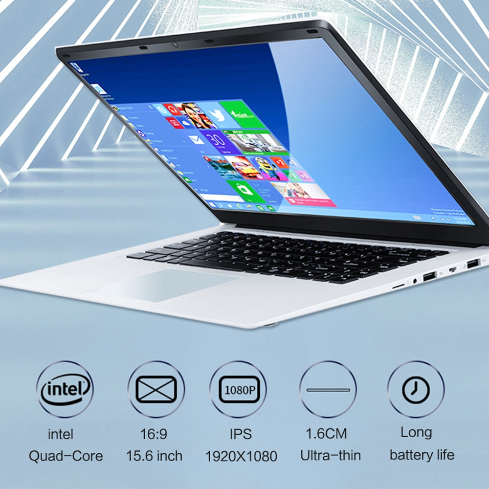 Get 15 inch Laptop With 8GB RAM 1TB 512G 256G 128G 64G SSD Notebook Computer Quad Core Netbook Students Ultrabook With Win10 OS