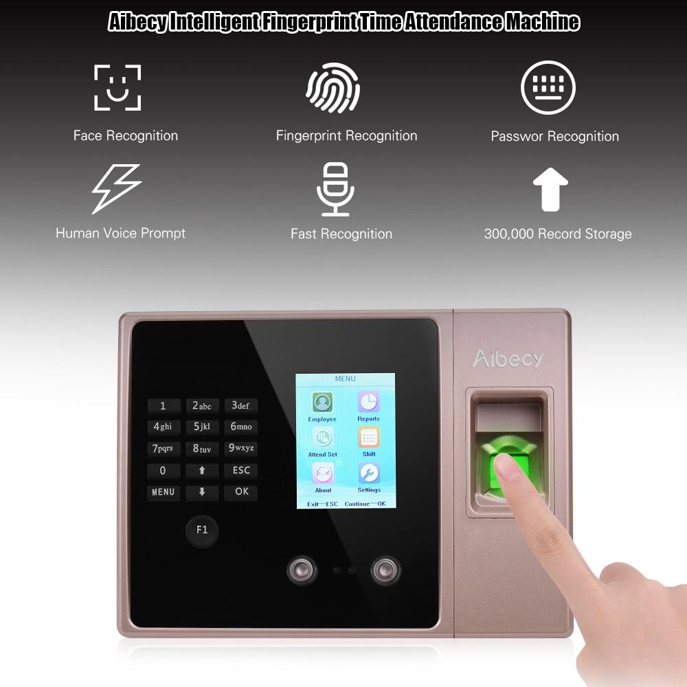 Multi-language Biometric Fingerprint Time Attendance Clock Recorder Employee Recognition Recording Device Electronic Machine