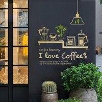 milk tea coffee shop cafes ice cream bread cake kitchen wall art sticker decal diy home decoration mural decor