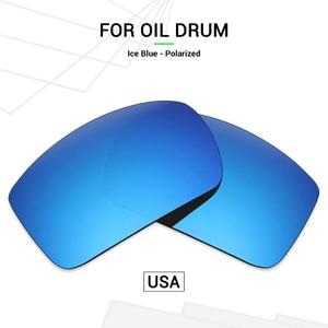 Mryok POLARIZED Replacement Lenses (from USA) for Oakley Oil Drum Sunglasses Ice Blue