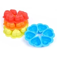 6 defiled rice cake baking mold heart shaped silicone cake mold baking mold wholesale baking mold with heart shaped rice balls