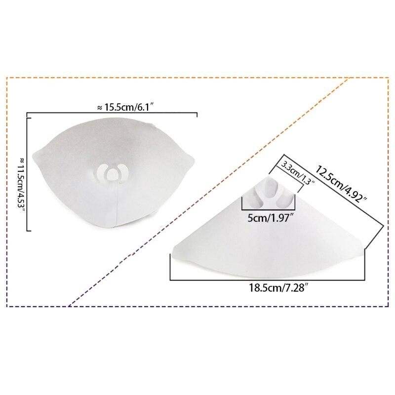 2021 novos 50 pces funil acessorios de impressora 3d papel branco engrossar funis de filtro