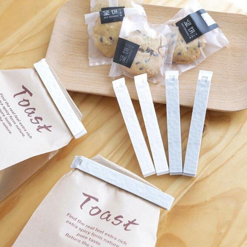 5 unids/set de Clips de plástico para bolsas de almacenamiento de alimentos frescos, sellador de bolsas, accesorios de herramientas de cocina, Mini pinzas de sellado al vacío para alimentos