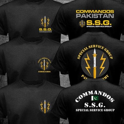 Camiseta militar do exército do grupo de serviço das forças especiais do paquistão