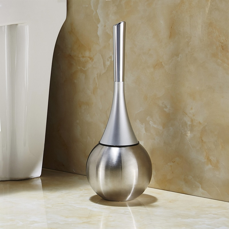 Floor Creative Swan Toilet Brush Waterproof Stainless Steel Toilet Cleaning Artifact Bathroom Accessories Set Cleaning Tools enlarge