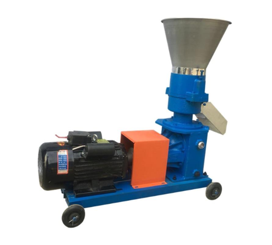 220V/ 380V KL-150 بيليه مطحنة متعددة وظيفة تغذية الغذاء بيليه صنع آلة المنزلية الحيوان تغذية المحبب 100 كجم/ساعة-120 كجم/ساعة