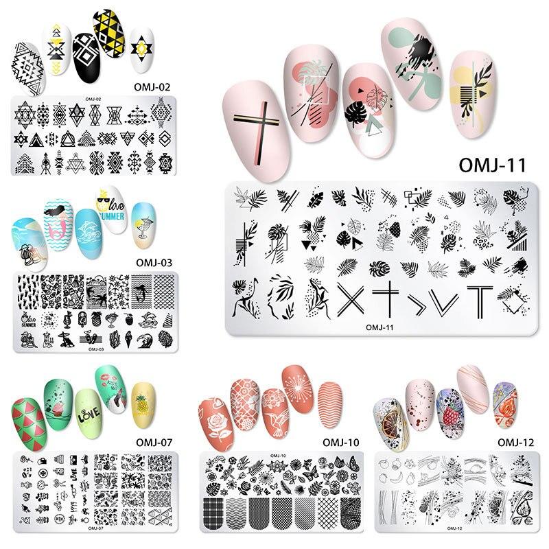 Шаблоны для дизайна ногтей 12*6 см, штамповочные пластины, дизайн рождественской елки, бабочки, печать, квадратные шаблоны, шаблоны, изображен...