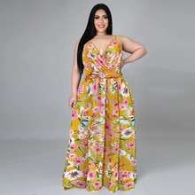 Plus Size Women Summer Dress Sexy Spaghetti Strap Beach Dress 2021 New Arrivals Floral Printed Bohe