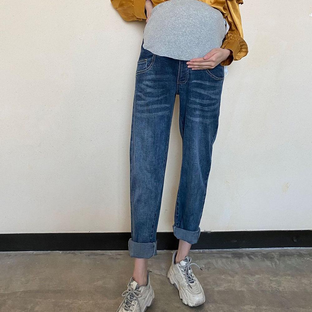 2021 new jeans pregnant women pants pregnant women clothes nursing pregnancy leggings trousers stretch half-support jeans
