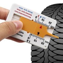 Auto voiture roue pneu jauge de profondeur 0-20mm pneu bande de roulement Depthometer indicateur de profondeur jauge moto remorque Van mesure outil