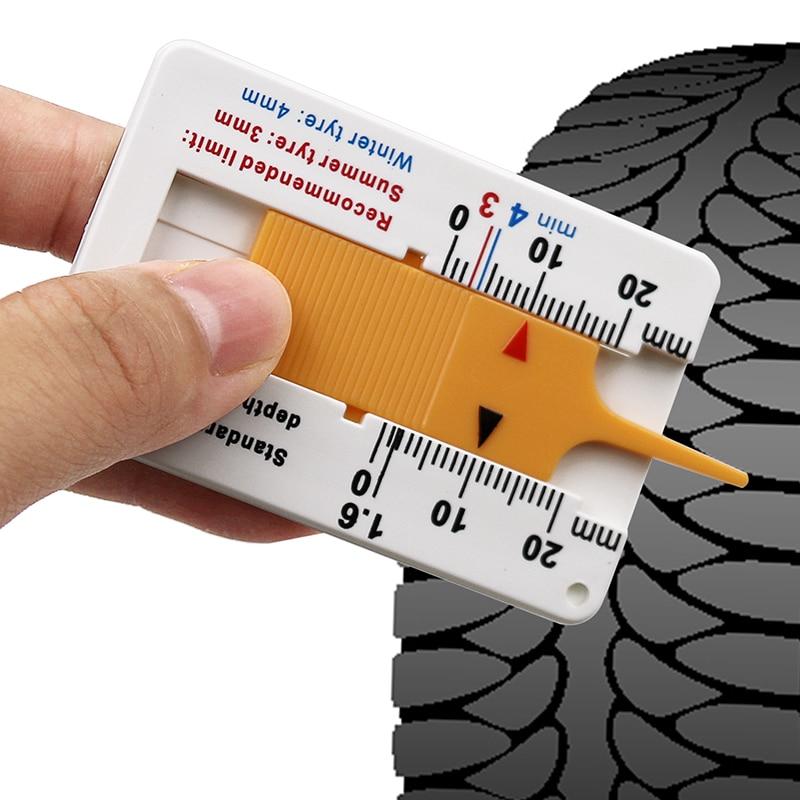 Calibrador de profundidad de rueda de coche 0-20mm neumático de banda de rodadura deptómetro medidor de profundidad indicador Gage motocicleta remolque Van herramienta de medición