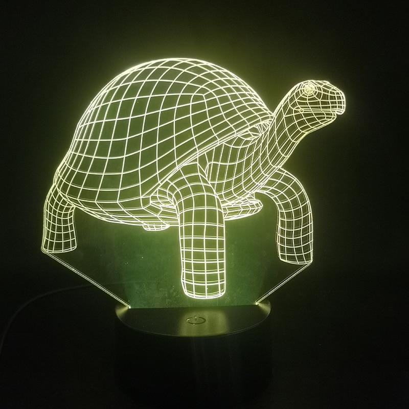 Terra tartaruga elefante animal 3d lâmpada base brilhante alimentado por bateria efeito de luz visual usb led night light lâmpada