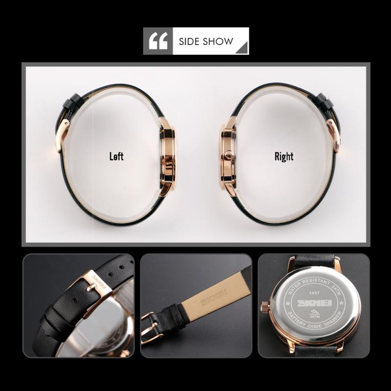 SKMEI Top Brand Fashion Women Watches Leather Strap High Quality Female Quartz Wristwatches Ulti Thin Ladies Watch Reloj Mujer enlarge