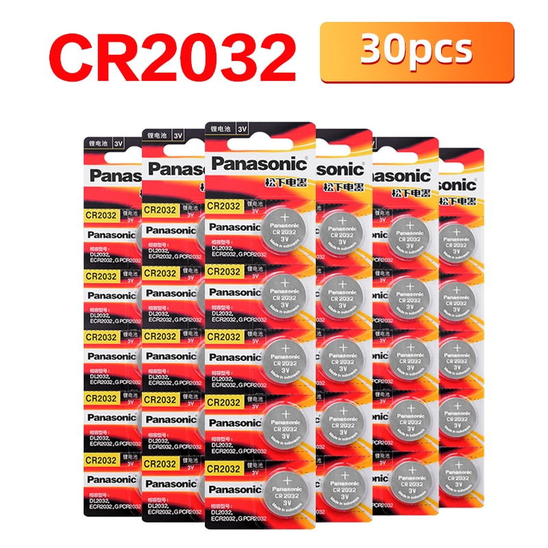 Brand New PANASONIC 30pcs/lot cr2032 Brand New Button Cell Batteries 3V Coin Lithium Toys Calculators PDA remote control cr2032