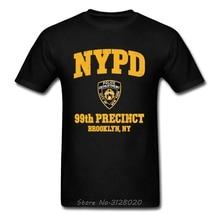 New York Police Logo Newest Men T-shirt 99th Precinct Brooklyn NY Normal Tops Tees Summer Autumn Vintage Style TShirt