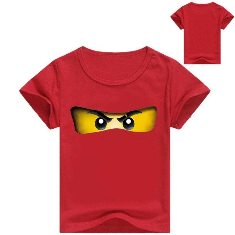 2-16Y moda Lego camiseta niños Brother Eye ropa niño camiseta manga corta Niño verano Casual ropa niños niñas camisas